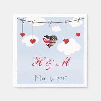 Königliches Hochzeits-Party Papierserviette
