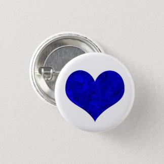 Königliches Kobalt-Blau-Marmorierungherz Runder Button 3,2 Cm