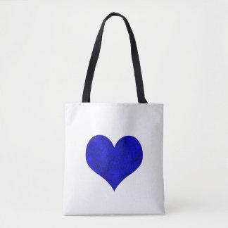 Königliches Kobalt-Blau-Marmorierungherz Tasche