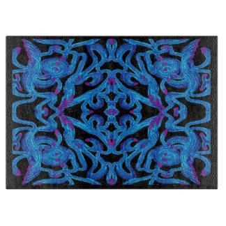 Königliches Küchen-Ausschnitt-Brett auf Blauem, Schneidebrett