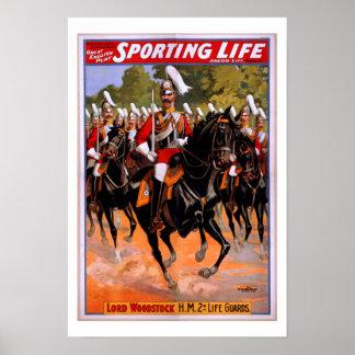 Königliches Leben-Schutz-Pferdekavallerie-Plakat Poster