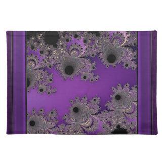 Königliches lila blühendes Fraktal Tischset