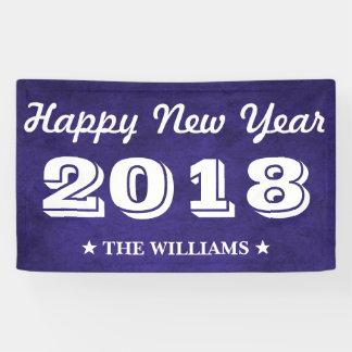 Königliches lila glückliches neues Jahr 2018 des Banner