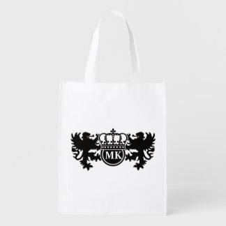 Königliches Löwe-Monogramm Wiederverwendbare Einkaufstasche