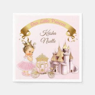 Königliches Mädchen Prinzessin-Castle Carriage Papierservietten