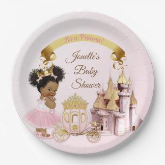 Königliches Mädchen Prinzessin-Castle Carriage Pappteller