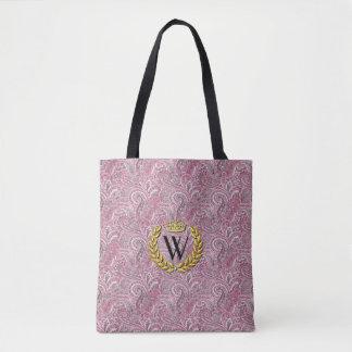 Königliches Monogramm Paisley personifizieren Tasche