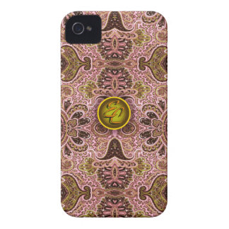 Königliches rosa Paisley (EC) Case-Mate iPhone 4 Hülle