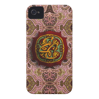 Königliches rosa Paisley Case-Mate iPhone 4 Hüllen