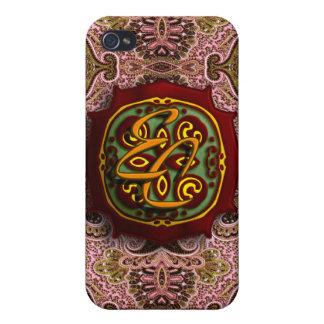 Königliches rosa Paisley iPhone 4 Hüllen