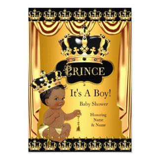 Königliches Schwarz-Goldethnischer Junge Karte