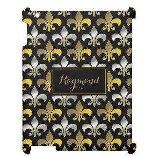 Königliches Silber und Gold Fleurs-De-lis iPad Hülle