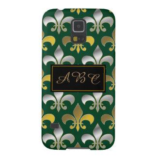 Königliches Silber-und GoldLilie Galaxy S5 Cover