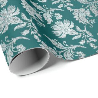 Königliches Vintages tiefes aquamarines mit Geschenkpapier