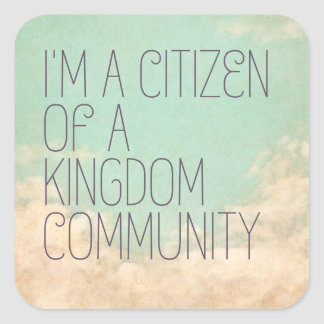 Königreich-Bürger Quadratischer Aufkleber