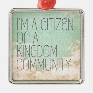 Königreich-Bürger Silbernes Ornament