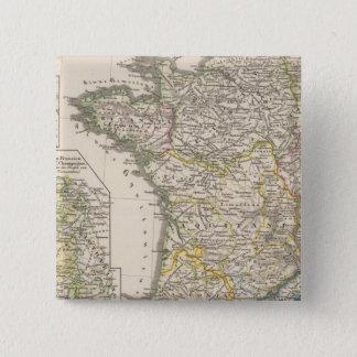 Königreich der Fränke Quadratischer Button 5,1 Cm