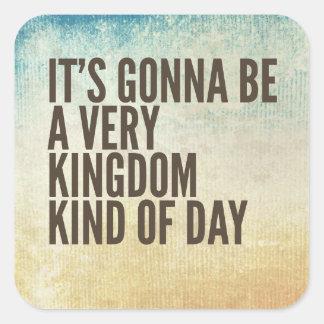Königreich-ein bisschen Tag Quadratischer Aufkleber