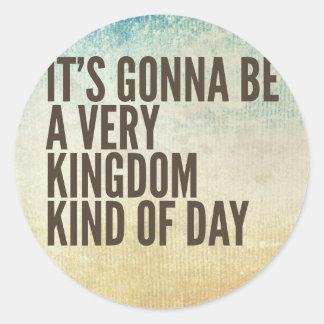 Königreich-ein bisschen Tag Runder Aufkleber