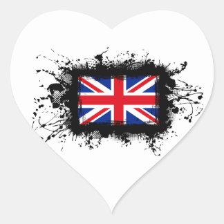Königreich-Flagge Herz-Aufkleber