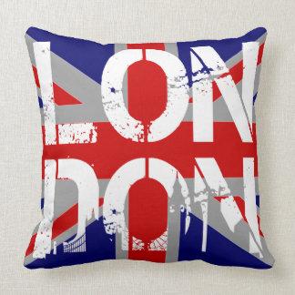 Königreich-Flagge London und berühmte Kissen
