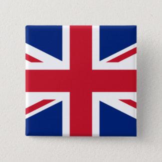 Königreich-Flagge Quadratischer Button 5,1 Cm