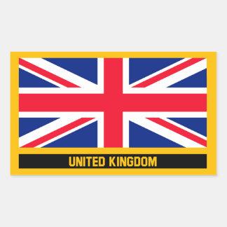 Königreich-Flagge Rechteckiger Aufkleber