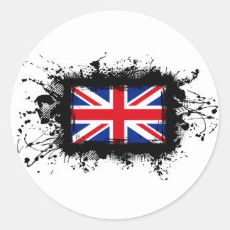 Königreich-Flagge Runder Aufkleber