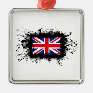 Königreich-Flagge Silbernes Ornament