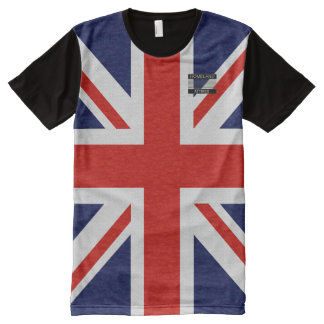 Königreich-Flaggen-blaues Rot-Weiß-T - Shirt