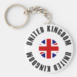 Königreich-Flaggen-Rad Schlüsselanhänger