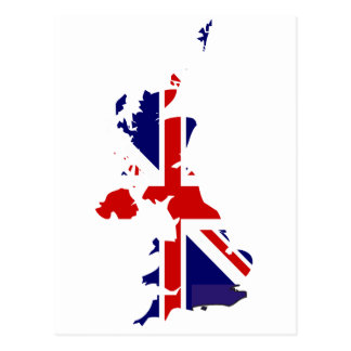 Königreich-Flaggenkarte Postkarte