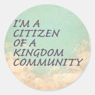 Königreich-Gemeinschaft Runder Aufkleber