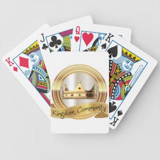Königreich-Gemeinschaftskrone Bicycle Spielkarten