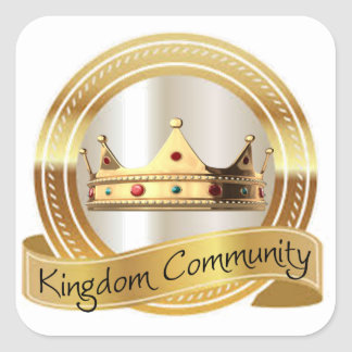 Königreich-Gemeinschaftskrone Quadratischer Aufkleber