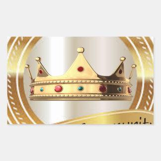 Königreich-Gemeinschaftskrone Rechteckiger Aufkleber