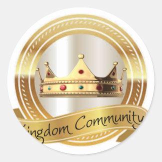 Königreich-Gemeinschaftskrone Runder Aufkleber
