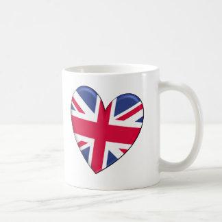 Königreich-Herz-Flagge Kaffeetasse