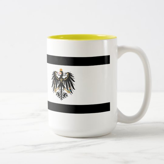 Königreich Preussen Nationalfahne Zweifarbige Tasse