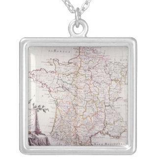 Königreich von Frankreich Halskette Mit Quadratischem Anhänger