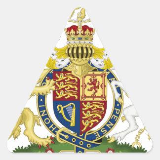 Königreich-Wappen Dreieckiger Aufkleber