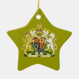Königreich-Wappen Keramik Stern-Ornament
