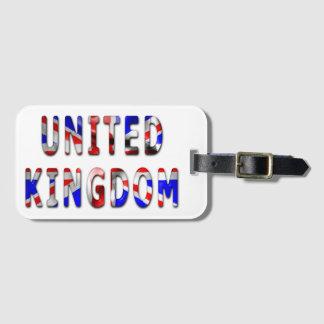 Königreich-Wort mit Gepäckanhänger