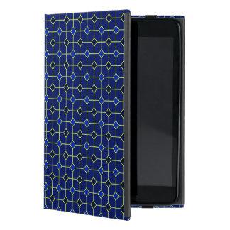 Königsblau-antiker Fliesen-Entwurfs-Fall Etui Fürs iPad Mini