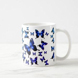 Königsblau-elegante wunderliche Schmetterlinge Kaffeetasse