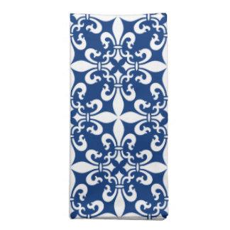 Königsblau French Fleur de Lys Pattern Stoffserviette