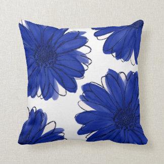 Königsblau-Gänseblümchen Kissen