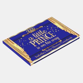 Königsblau-Gold drapiert Prinzen Babyparty Gästebuch