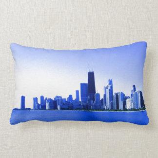 Königsblau hebt Chicago-Skyline hervor Lendenkissen