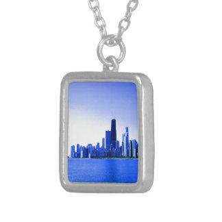 Königsblau hob Chicago hervor Versilberte Kette
